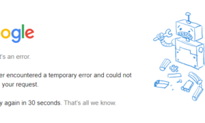 Les services Google inaccessible ce Lundi